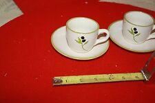2 Esspresso cups & saucers Olive Branch Design