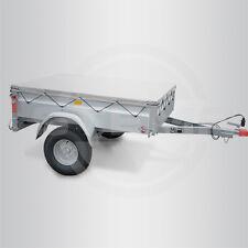 STEMA Flachplane Anhänger Hänger Plane 201 x 108 cm grau FT OPTI AN 750 850