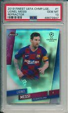 2019 Finest UEFA Champions League #1 Lionel Messi REFRACTOR PSA 10