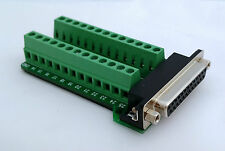 DB25 DSUB 25pin Female Adapter RS232 Breakout Board Connector (D10)