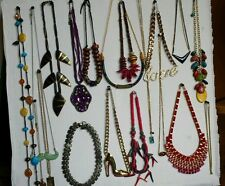 Fashion Jewelry Lot of 19 NECKLACES All Wearable