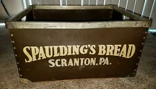"Vintage Spauldings Bread Scranton PA Kennett Bread Box Rare 24x18x13"""