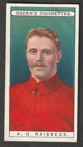 OGDENS tobacco Famous FOOTBALL A G Raisbeck LIVERPOOL 1908