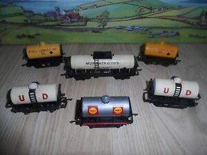 6 TRIANG MODEL RAILWAYS OO GAUGE TANK WAGONS INCLUDING MURGATROYD'S