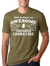 Firefighter Awesome Firefighter T-shirt Gift for Firefighter Tee Shirt