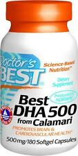 Best DHA 500 from Calamari, 180 soft gels, Doctor's Best