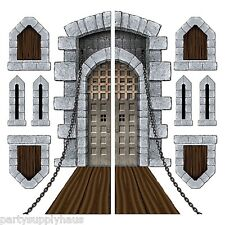 GAME of THRONES Medieval CASTLE DRAWBRIDGE WINDOW PROPS Party Wall Decoration