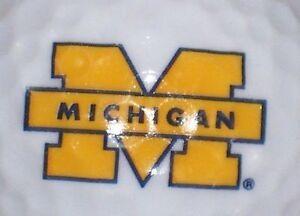 3 Dozen (Michigan Wolverines Logo) Top Flite Mint / AAAAA Golf Balls