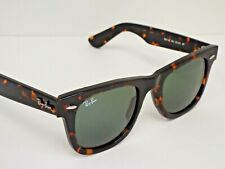 NEW Ray-Ban Wayfarer RB 2140 902 Tortoise Green Classic 50 mm Sunglasses $193