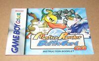 Monster Rancher Battle Card (Instruction Manual Only) Nintendo Game Boy Color