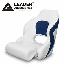 Leader Accessories Two Tone Captain's  Bucket Seat Boat Seat White/Blue