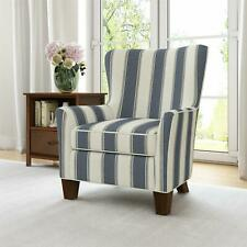 Dorel Living Berkeley Accent Chair, Living Room Furniture, Blue Stripe