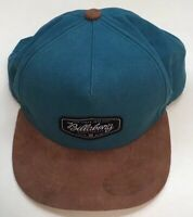 Billabong Teal & Brown SnapBack Hat - Nice Pre Owned Shape - Surf Surfing Cap