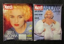1990/91 PARIS MATCH French Magazine LOT of 2 VG+ 4.5 Madonna