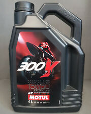 1 x Motul 300V 4T 15w50 moteur HUILE 4 litre route course +####