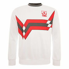FC Liverpool Candy White Mens Sweat Shirt Long Sleeve Top LFC Official