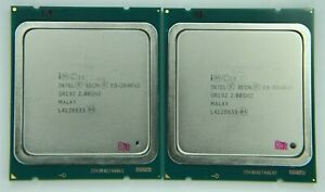 Matched Pair of Intel Xeon E5-2640 V2 8 Cores 2 GHz SR19Z Processor w/Grease