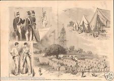 Centennial Exposition Philadelphia West Point Cadet officers GRAVURE PRINT 1876