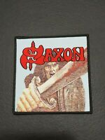 SAXON Band SELF TITLED WOVEN PATCH NWOBHM Iron on Jacket Clothing Woven Badge