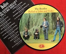"BEATLES -Ballad Of John And Yoko- Rare 7"" Picture Disc +Insert"