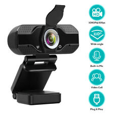 1080P HD Webcam with Privacy Cover USB Camera w/Microphone For PC Laptop Desktop
