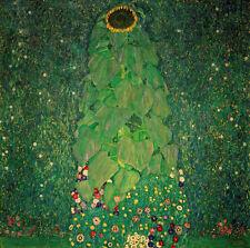 Gustav Klimt sunflower reproduction of painting 12X12 canvas print art poster