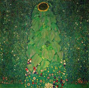 Gustav Klimt sunflower canvas print giclee 8,3X8,3 reproduction art poster