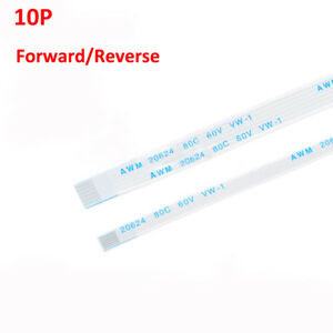 10 Pin FFC/FPC Flexible Flat Ribbon Cable Forward/Reverse Pitch 0.5mm/1.0mm