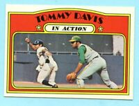 1972 Topps Baseball # 42 Tommy Davis in Action - Box 734-373