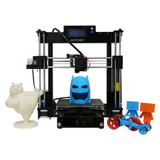 New Prusa i3 3D Printer Kit Acrylic Frame Large Printing Size 210×210×250mm Desk