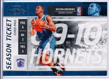 2009-10 PLAYOFF CONTENDERS SEASON TICKET #25 CHRIS PAUL - NEW ORLEANS HORNETS