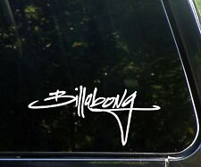 Billabong Script - surfing decal / sticker surf snowboarding skating surfboard