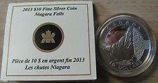 2013 Proof $10 O Canada - Niagara Falls .9999 silver COIN & COA ONLY