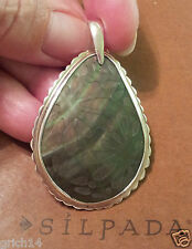 """Silpada Sterling Silver Etched Lip Shell Pendant S2236 NEW! """"Earthy Elegance"""""""