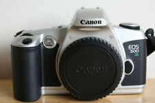 Canon EOS 500N 35mm SLR Film Camera Body with body cap + Strap + OWNERS HANDBOOK