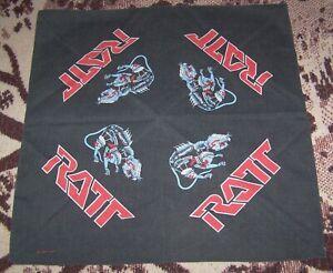 Vintage 1984 RATT Concert Bandana Scarf Headband Tapestry Banner Stephen Pearcy