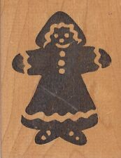 """gingerbread lady hot potatoes Wood Mounted Rubber Stamp 2 1/2x 3"""""""