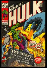 Incredible Hulk #140 High Grade Bronze Age Marvel Comic 1971 VF