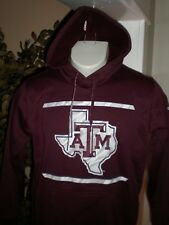 NEW Texas A&M Aggies PERFORMANCE HOODED SWEATSHIRT SZ:M