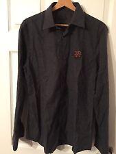 Z Zegna - Men's Cotton Grey Long Sleeve Shirt  39/15.5 Collar
