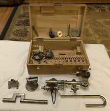 Vintage Lorch Schmidt Watchmakers Lathe/Polishing Machine In Box W/ Accessories