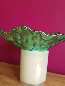 Blue Handmade Glass Bowl Decorative