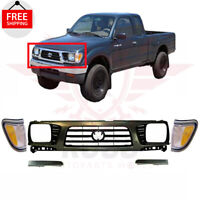 New Front Grille Gray Filler Park Signal Light 5pc For 1995-97 TOYOTA TACOMA 4WD