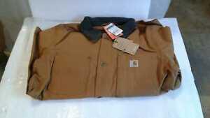 Men's Regular Large Carhartt Brown Cotton Full Swing Chore Coat by Carhartt