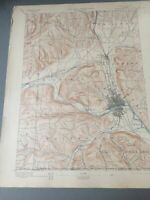 US Geological Survey Topography Map,1904 Quadrangle Elmira New York- Penn