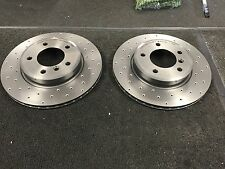 BMW E46 325ti 320D 325 328 Brembo Cross Perforati Dischi del Freno posteriore 294MM