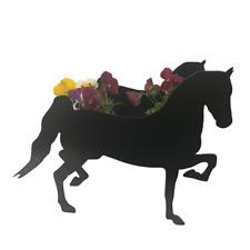 Hackney Horse Metal Garden Patio Planter Ponies Pony Equine Flower Planters