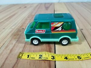 Buddy L Vintage Pressed Steel Panel Van Green 4 3/4 inchs