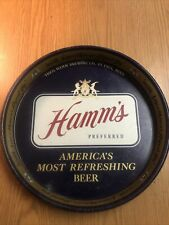 Vintage 1950's Hamm's Preferred Beer Tray. Good Shape! Rare! Smoothness Aged In