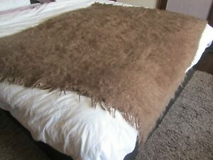 The White Company mohair throw / blanket in brown.